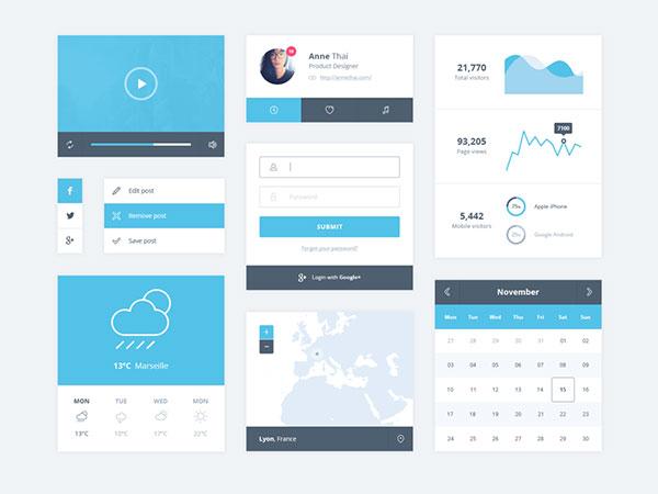 PSD: Minimal UI Kit