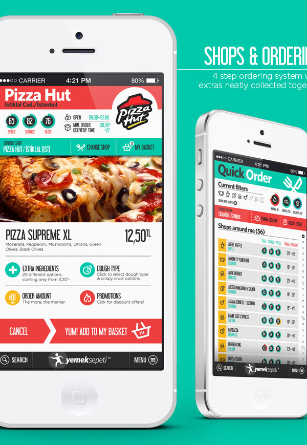Food Delivery App. Redesign