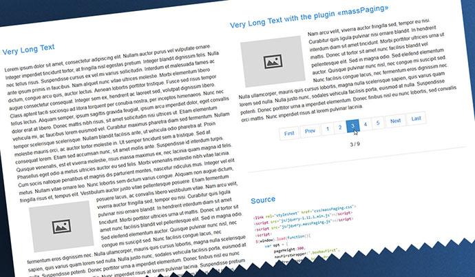 massPaging jQuery plugin