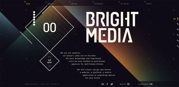 24 amazing websites designed with geometric shapes  u2013 bashooka