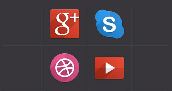 Psd Flat Social Icons