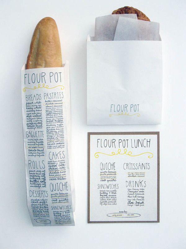 daily bread; like the handwritten bread bag