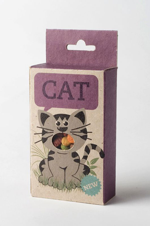 Cat food package.