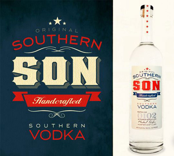 Southern Son Vodka branding design
