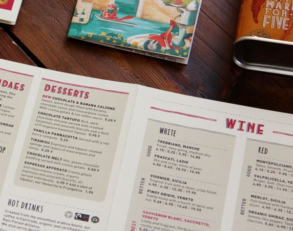 21 Attention-Grabbing Restaurant Menu Designs | Bashooka | Cool Graphic & Web Design Blog