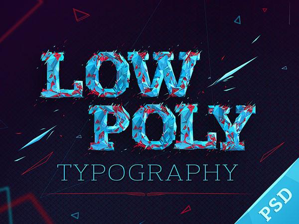 Tipografía baja poli