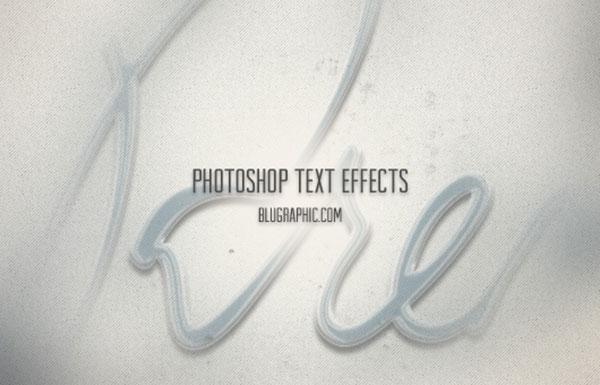 Efectos de texto de Photoshop