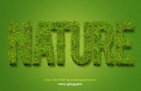 Grass Text Effect Action