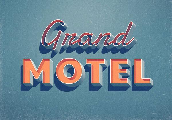 Efecto de texto Grand Motel