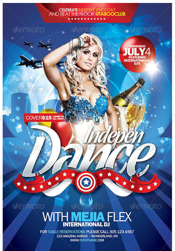 Amazing Independence Day Psd Flyer Templates  Web  Graphic