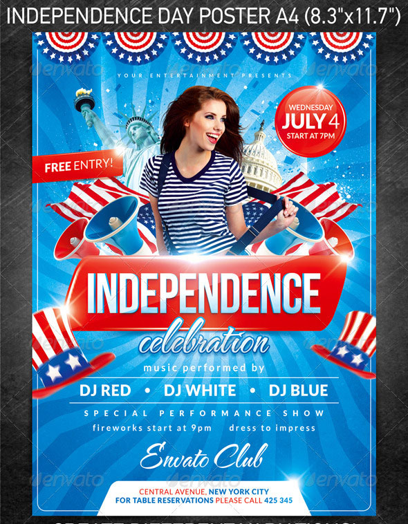 16 Amazing Independence Day Psd Flyer Templates Web Amp Graphic Design Bashooka