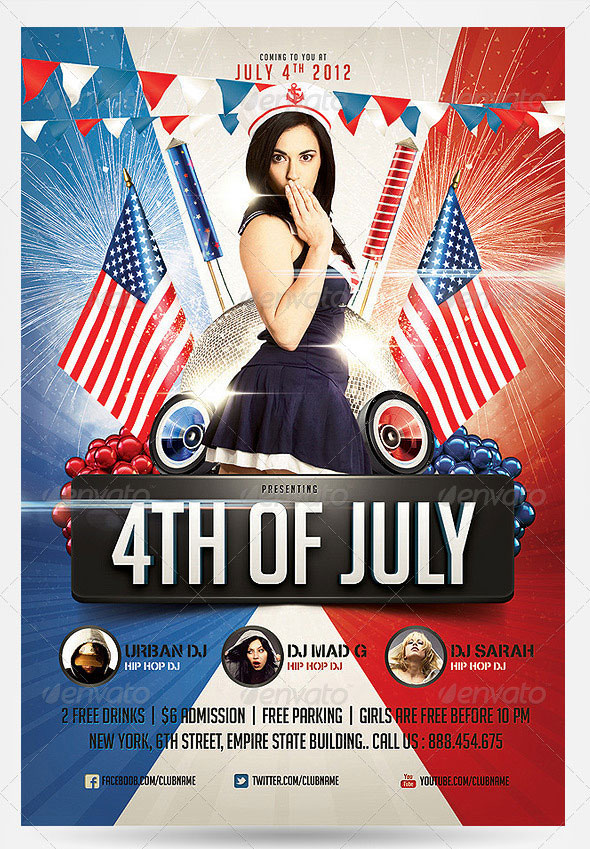 4th of July Party Flyer