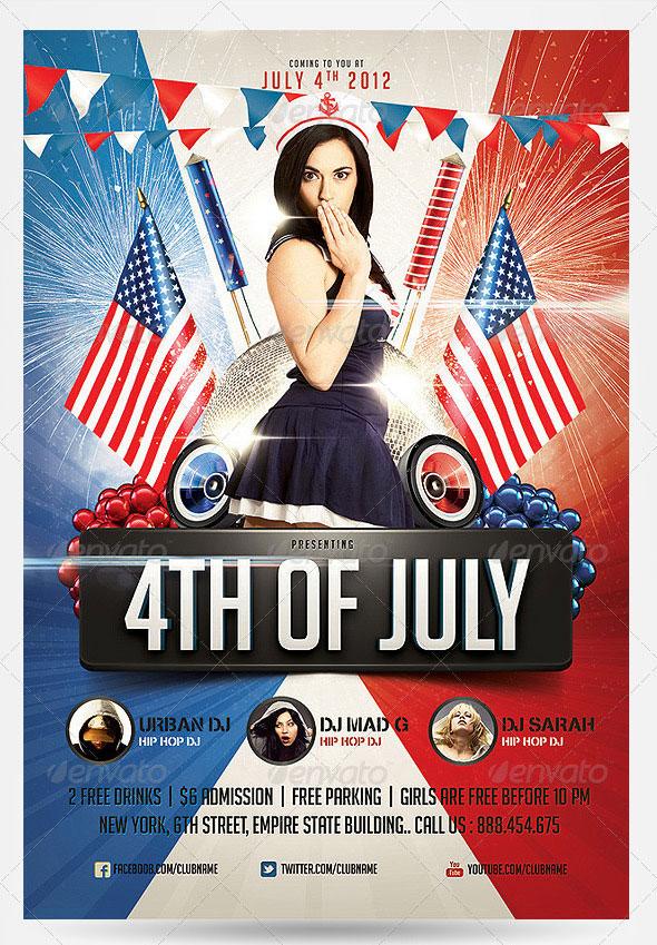 16 amazing independence day psd flyer templates  u2013 bashooka
