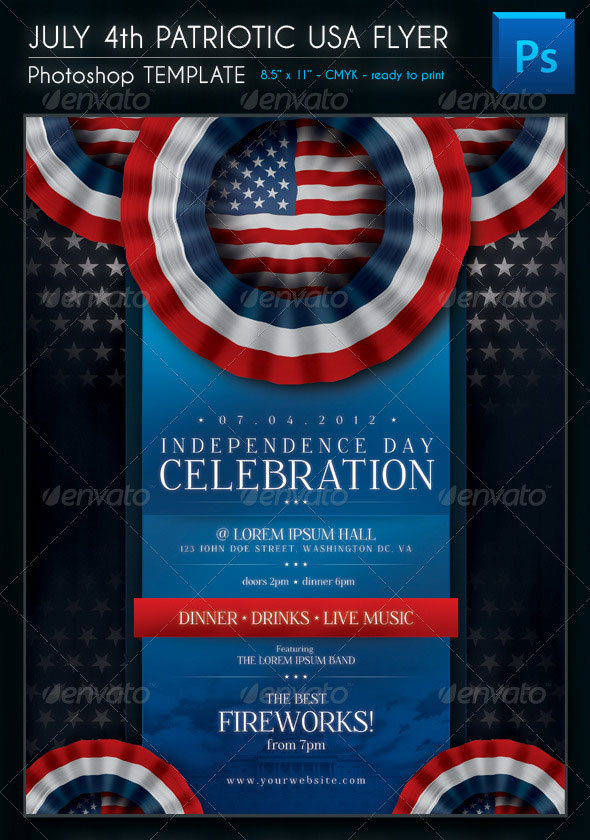 July 4th Patriotic USA Flyer