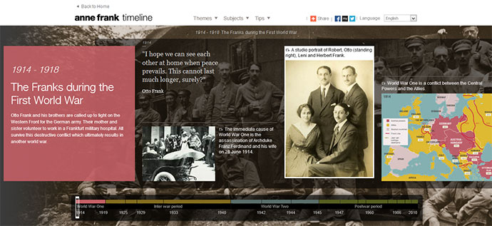 10 great examples of timeline in web design