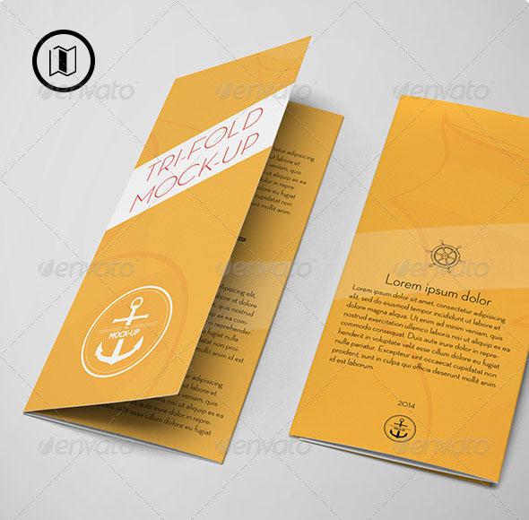 Tri Fold Brochure Mockup / US Standard