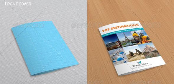 41 PSD Brochure Mockup Templates Web Graphic Design – Gate Fold Brochure Mockup