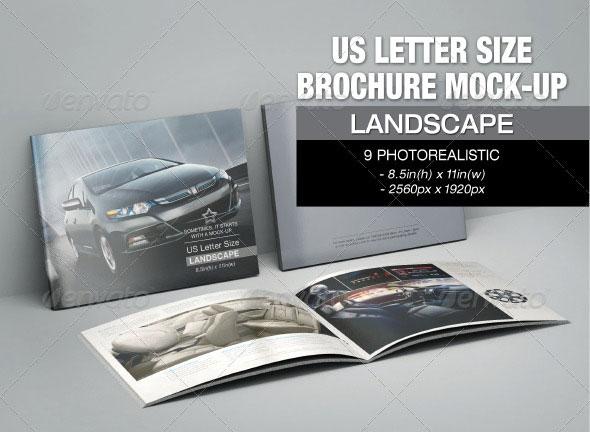 US Letter Size Brochure Mock-up