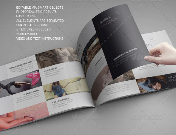 PSD Brochure Mockup Templates Web Graphic Design Bashooka - Download brochure template