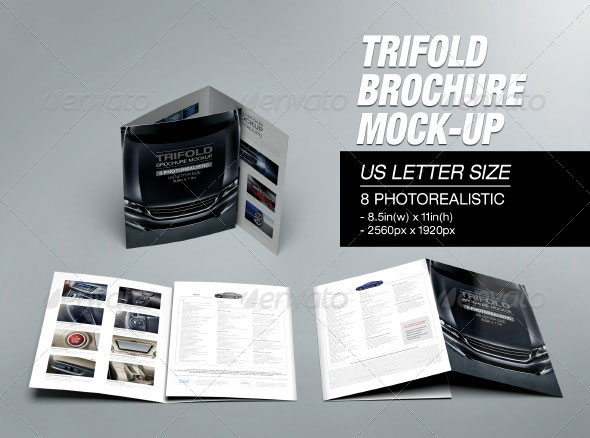 Trifold Brochure Mock-up 02