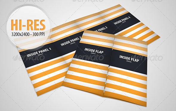 Gate Fold Brochure Mock-Up Pack