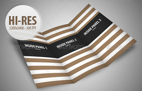 Trifold Brochure Mock-Up Pack