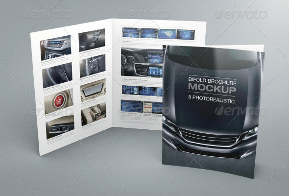 Bifold Brochure Mock-up 02
