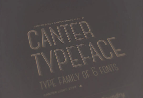 Canter free font