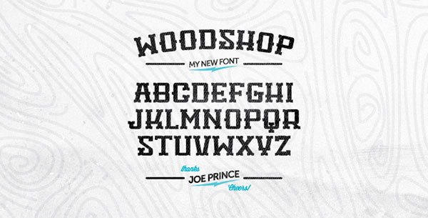 Woodshop Font