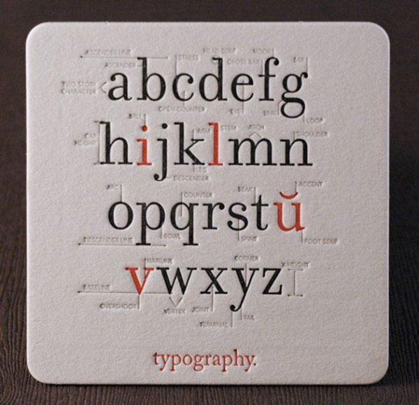 Typography Coaster.