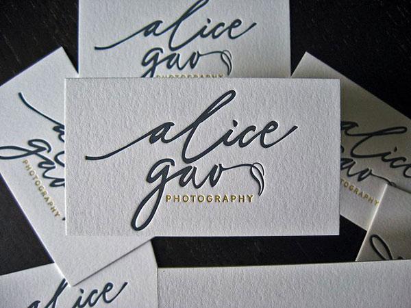 Alica Gao - Letterpress Logo