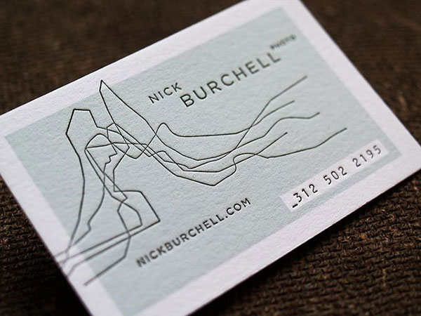 Nick Burchell's photography business card