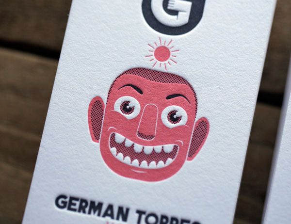 GERMAN TORRES - LETTERPRESS BUSINESS CARDS