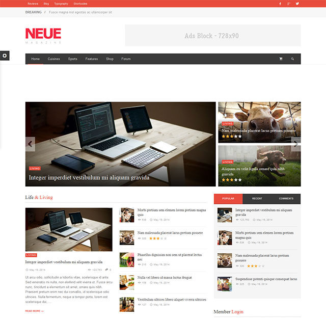 NEUE – Smart & Modern Magazine Theme