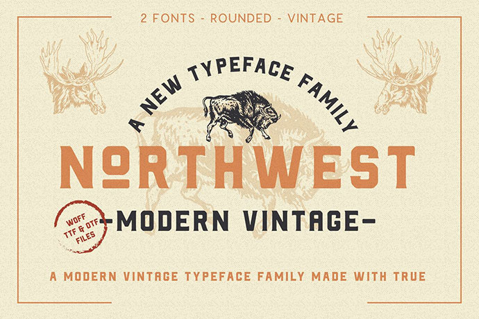 The Northwest - Modern Vintage Type Family