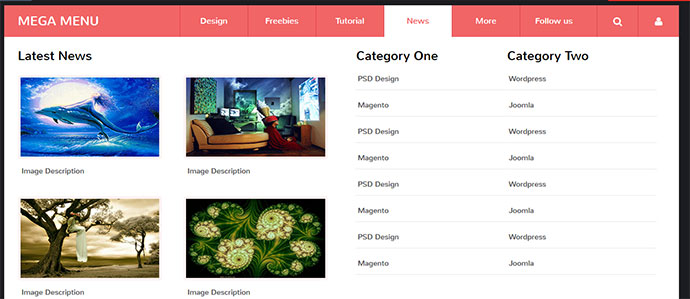 14 Pure CSS / CSS3 Drop Down Menus