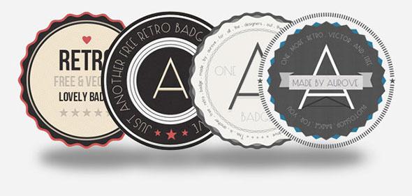 free retro badge