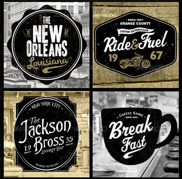 American Vintage Badges