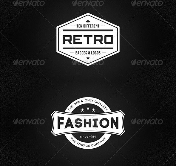Retro badges & logos