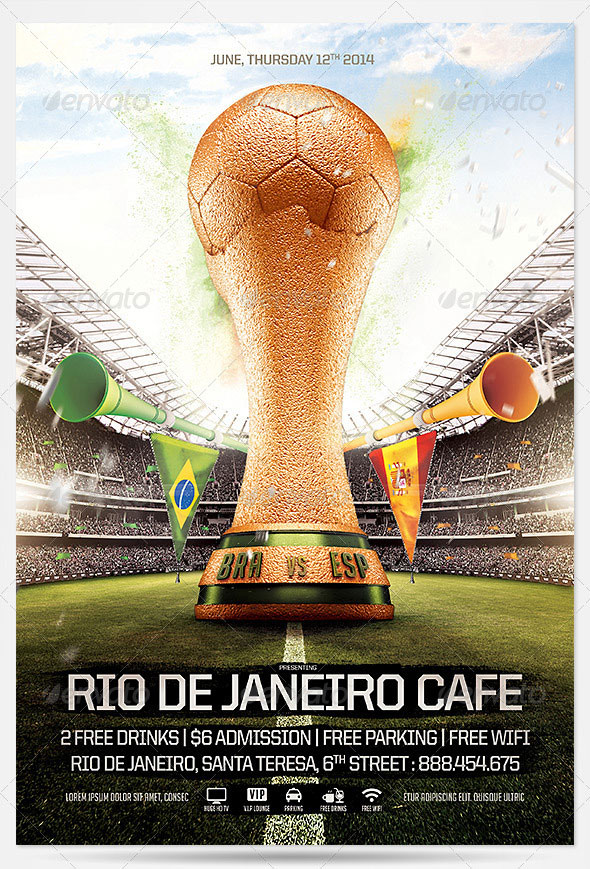 Brazil Soccer Cup Flyer 2014 Template