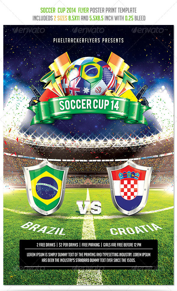 14 world cup brazil psd flyer templates web graphic design