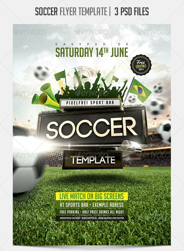 14 world cup brazil psd flyer templates  u2013 bashooka