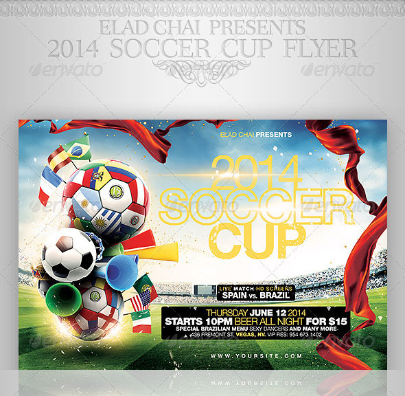 World Cup Brazil Psd Flyer Templates  Web  Graphic Design