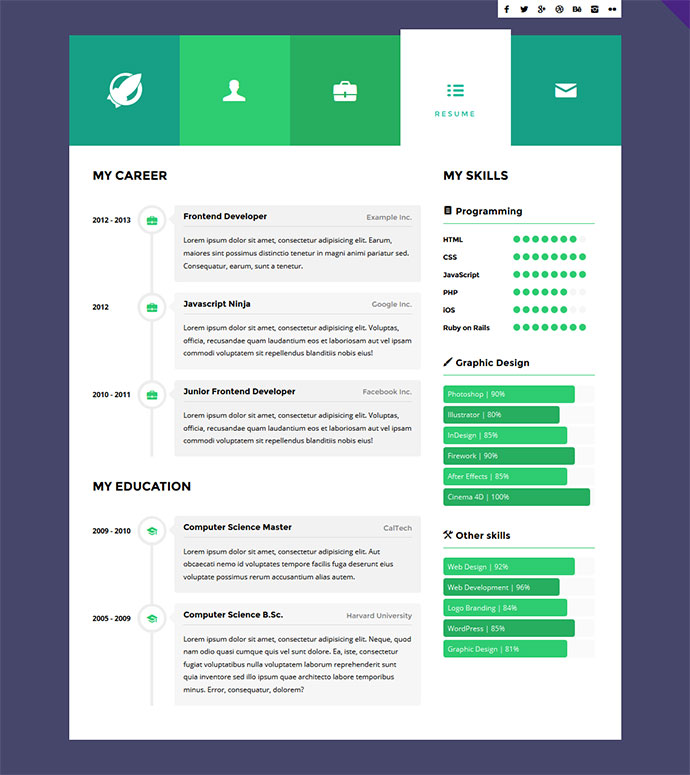 12 creative interactive resumes web
