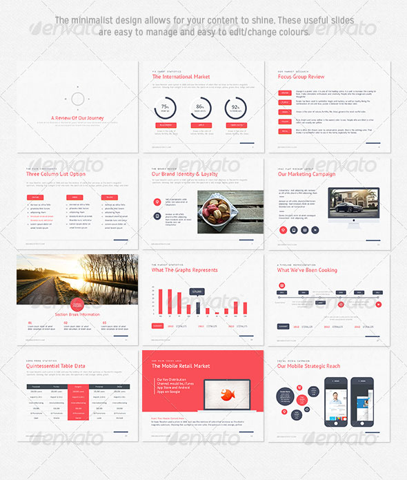 15 flat powerpoint presentation templates web graphic design
