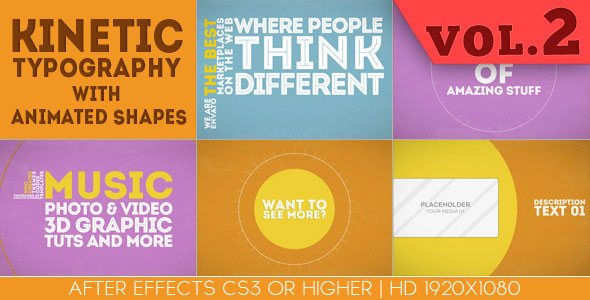 25 amazing after effects kinetic typography templates web