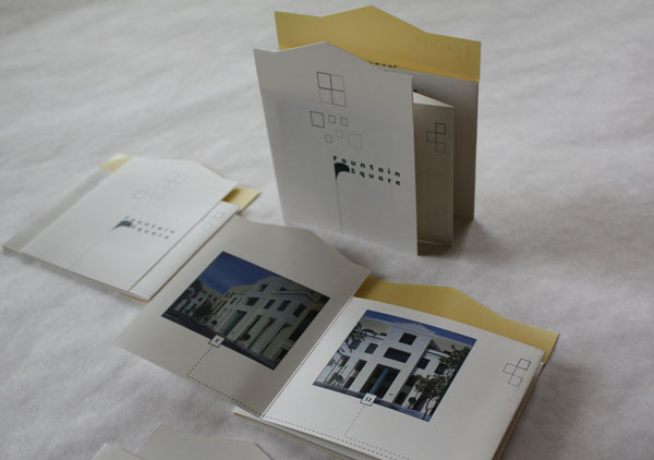 accordion-fold die-cut brochure