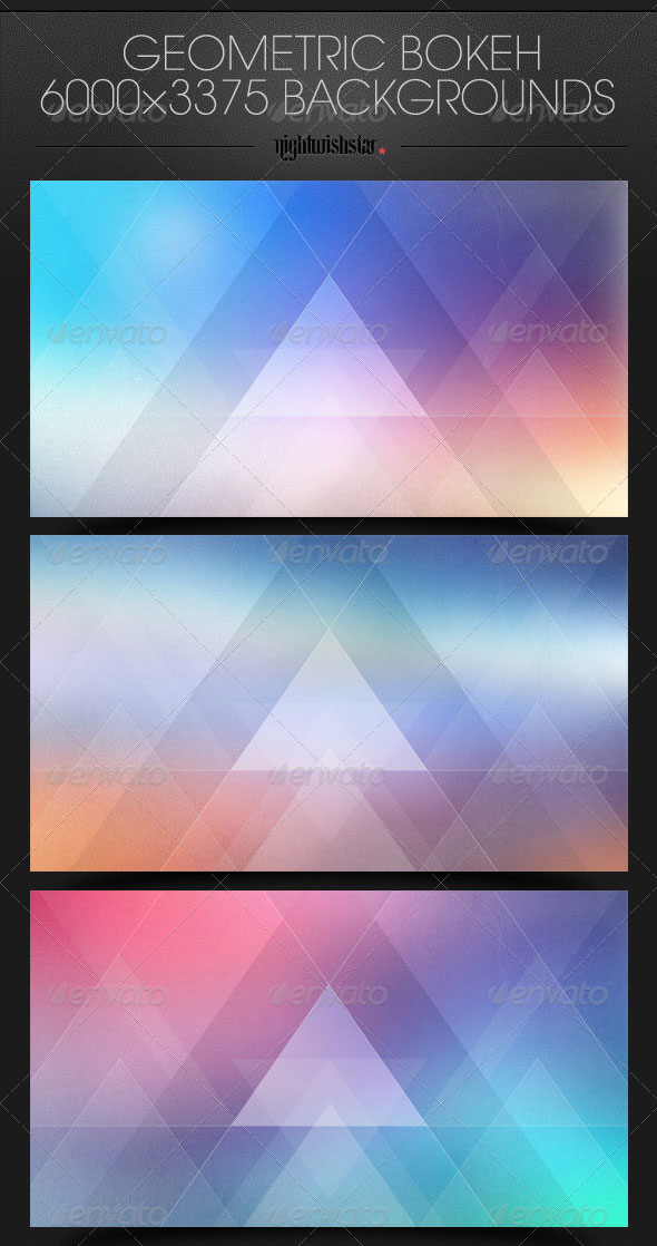 Geometric Bokeh Triangles Backgrounds
