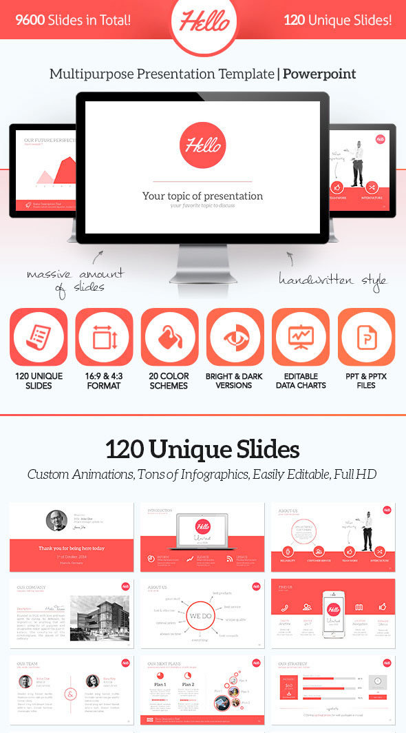 15 flat powerpoint presentation templates web graphic design hello 3 toneelgroepblik Image collections