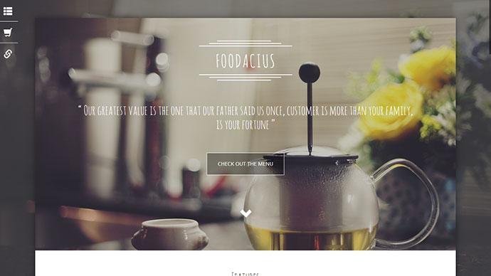Foodacius - Retail Food Responsive Landing Page
